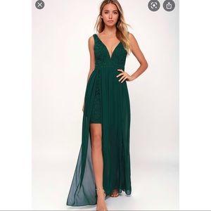 Lulus Maxi Dress Forest Green